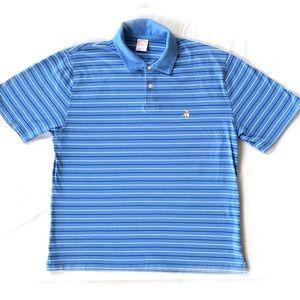 Brooks Brothers 346 XL Striped Short Sleece Polo